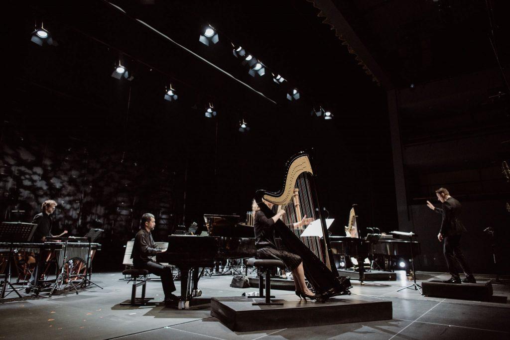 "Ensemble Intercontemporain wykonuje ""Sur incises"" Pierre'a Bouleza na Sacrum Profanum. Zdjęcie: Michał Ramus"